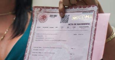 registro y solicitud del Acta de nacimiento